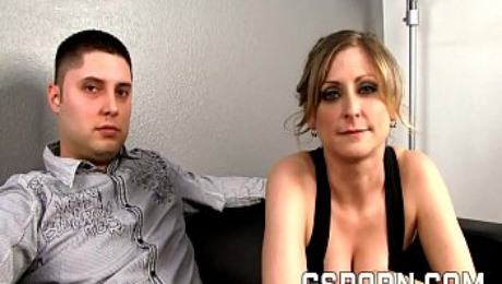 Hot milf fucked by bbc in front of her cuckold