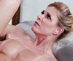 Mature aims for the whole dick in her tiny holes